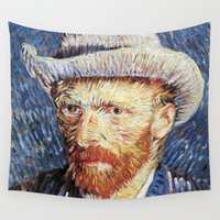 van gogh Wall Tapestries featuring Van Gogh  by klausbalzano