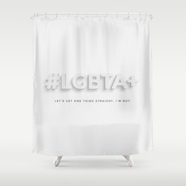 LGBTA+ Shower Curtain