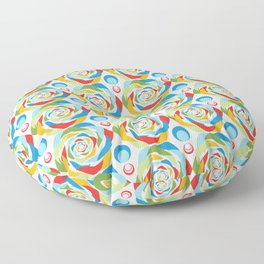 Rose Abstraction Floor Pillow