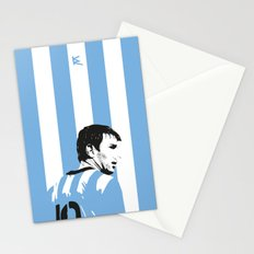 Messi Argentina Stationery Cards