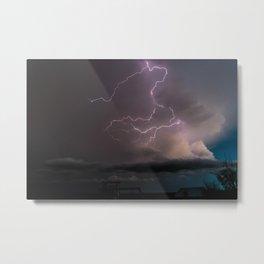 Spring Lightning Metal Print