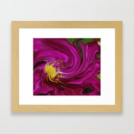 Pink Floral Swirl Framed Art Print