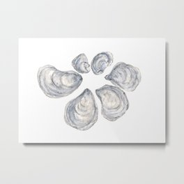 Beach, Ocean, Oysters, Sea life Metal Print