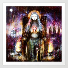 Vanadis - Goddess Freyja Art Print