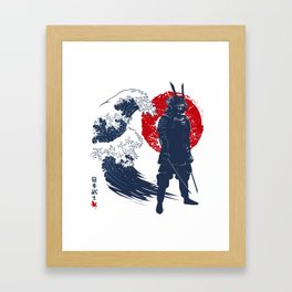 Wave Samurai Framed Art Print