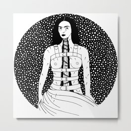 Frida Kahlo - Broken Column Metal Print