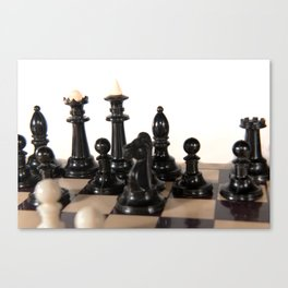 the image of one point in a chess game Canvas Print