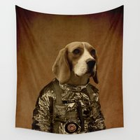 beagle Wall Tapestries featuring Beagle by Durro