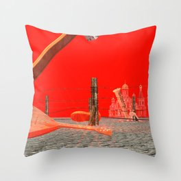 Squared: no country for creators Throw Pillow