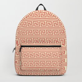 Yellow & Red Meander Pattern Backpack