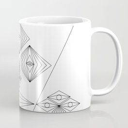 Abstract and Geomtric Faces Coffee Mug