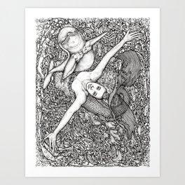 Euphoric Joy with the Dolphin by Kent Chua Art Print