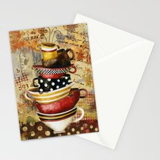 Coffee Cups Divine Stationery Cards