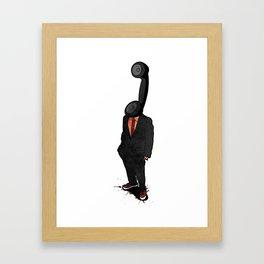 Headphone Framed Art Print