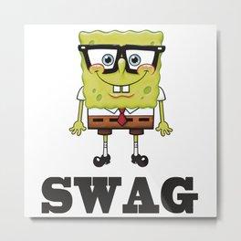Spongebob Swag Metal Print