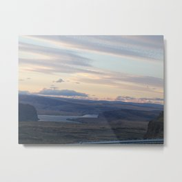 Sunset At The Gorge Metal Print