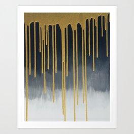 Gold Flow Art Print