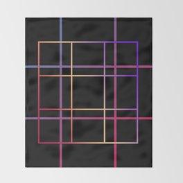 Geometric patchwork12 Throw Blanket