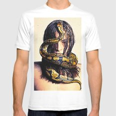 EVE MEDIUM White Mens Fitted Tee
