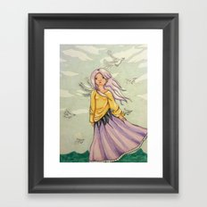 We Angels Don't Fly Framed Art Print