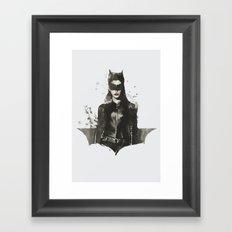 TDKR-catwoman II Framed Art Print
