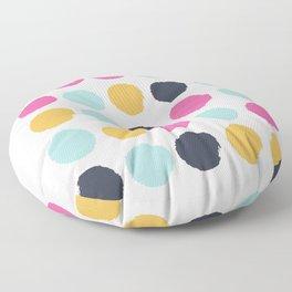 Polka dots abstract minimalist bright happy positive art painting painterly dots Floor Pillow