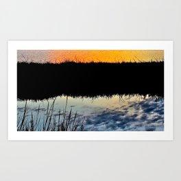 Water & Light / Bolsa Chica Wetlands Art Print
