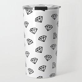 Black and white version of diamond Travel Mug