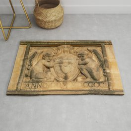 St. Johns College Oxford Coat of Arms in Sandstone Rug