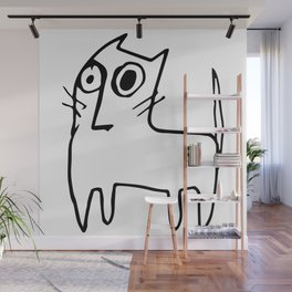 A mangy, miffed and slightly damaged cat Wall Mural