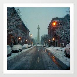 early morning, Mount Vernon Art Print
