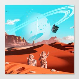 tardis space Canvas Print