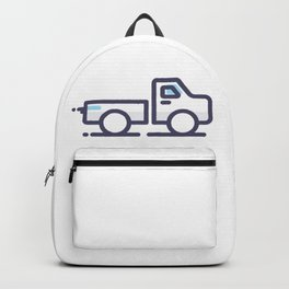 Utility Car Lineart Icon Backpack