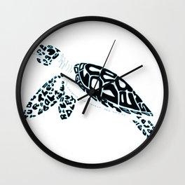Calligram Sea Turtle Wall Clock