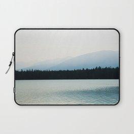 Misty Mountains - Lake Annette in Jasper, Canada Laptop Sleeve