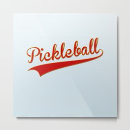 Pickleball Old-School Metal Print