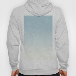 BLUE STRIKES - Minimal Plain Soft Mood Color Blend Prints Hoody