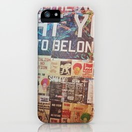 Build the world that you want to belong I iPhone Case