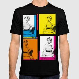 JANE AUSTEN (POP ART STYLE 4-UP COLLAGE) T-shirt