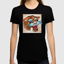Fierce Tiger - Traditional Tattoo Design T-shirt
