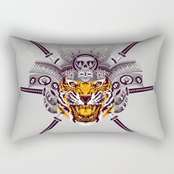 Tiger Warrior Rectangular Pillow