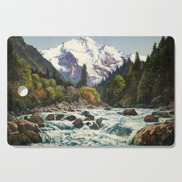 Mountains Forest Rocky River Cutting Board