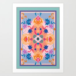 Eye Rug Art Print