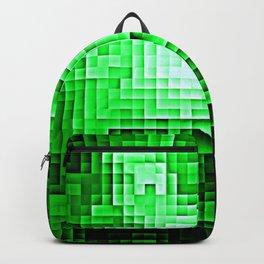 Nebula Pixels Emerald Green Backpack