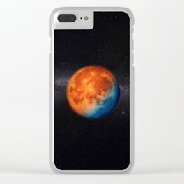 Super blue blood moon Clear iPhone Case