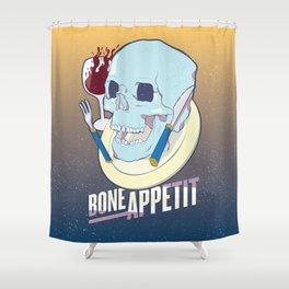 Skullture: Bone Appetit Shower Curtain