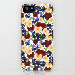 Large Flower Pattern iPhone Case
