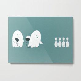 Bowling Ghost Metal Print