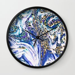 Blue Acid #society6 #buyart #decor Wall Clock