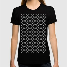 seamless pattern, Oriental  design,  black and white T-shirt